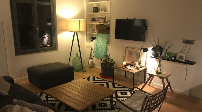 A louer appartement type 2 Tours Centre Quartier des Halles par Gautard Immobilier séjour
