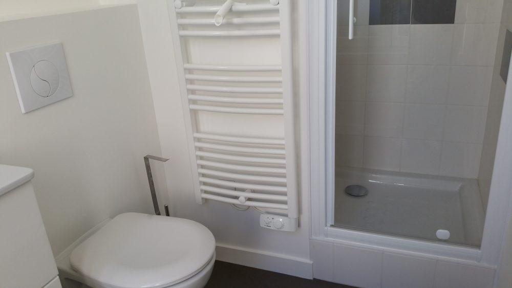 A louer studio meublé Centre ville de Tours par Gautard immobilier salle d'eau