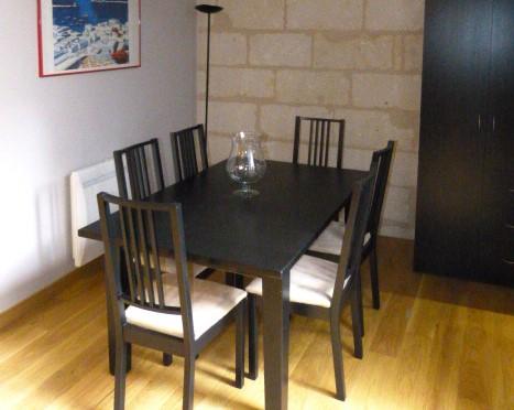 A louer type 3 meublé Tours quartier des Halles par Gautard immobilier  salle à manger