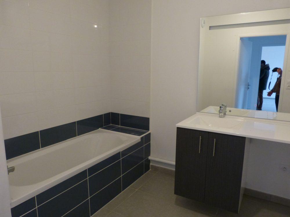 Type 3 Tours Nord St Symphorien a louer Gautard immobillier salle de bain