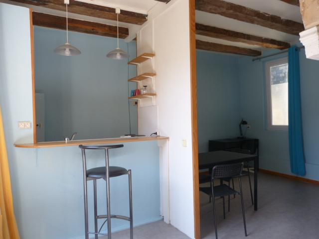 Studio meublé à louer Gautard immobilier pièce de vie