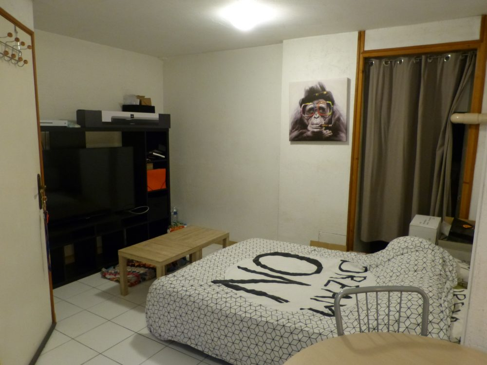 A louer studio Parcay-Meslay par Gautard immobilier coin nuit