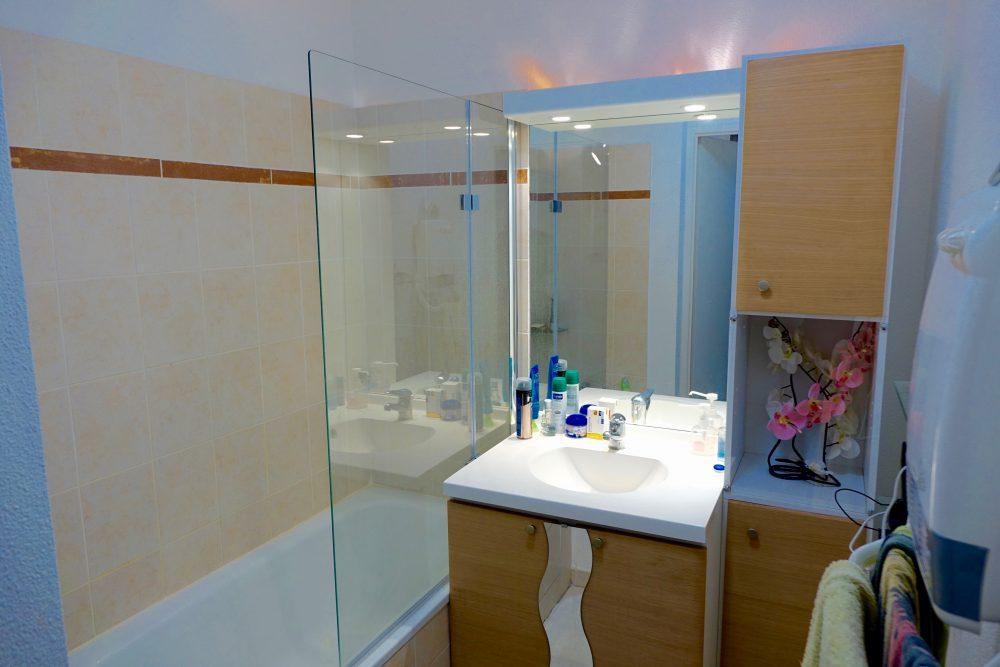 A louer appartement type 3 Quartier des deux Lions par Gautard Immobilier salle de bains