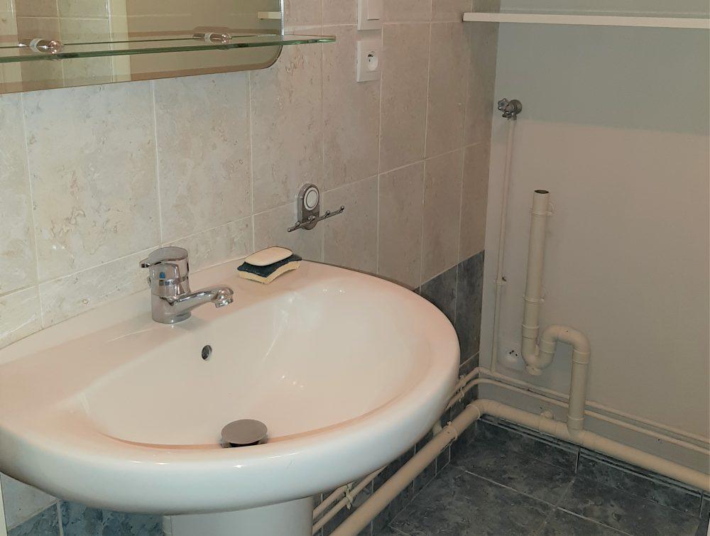 A louer Type 3 Tours Quartier Mirabeau par Gautard Immobilier salle de bains