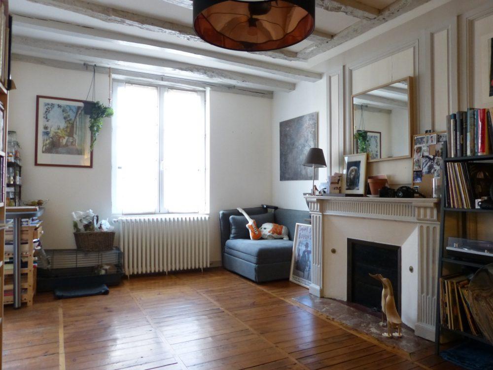 A vendre appartement type 2 Tours centre Quartier Cathédrale par Gautard Immobilier séjour