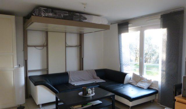 A louer studio Tours Nord par Gautard Immobilier pièce de vie