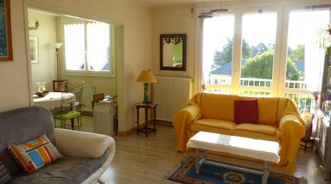A louer appartement type 4 Tours Nord par Gautard Immobilier séjour