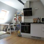 A louer studio Tours centre quartier des Halles par Gautard Immobilier coin cuisine