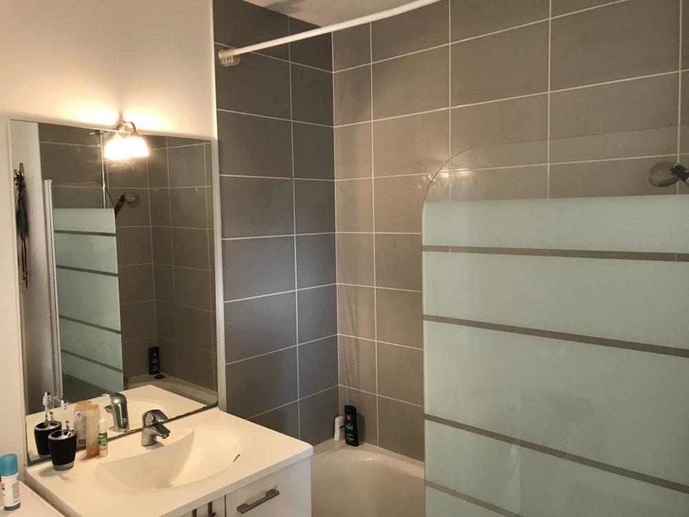 A louer appartement type 3 avec terrasses Tours Nord par Tours'N Gestion salle de bains